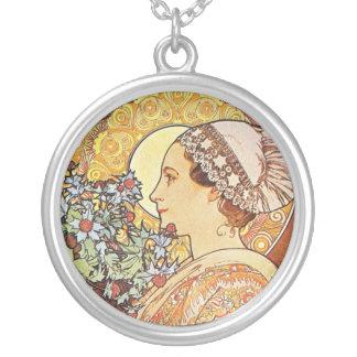 Nurse Maid Alphonse Mucha Art Necklaces