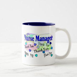 Nurse Manager THANK YOU Two-Tone Mug