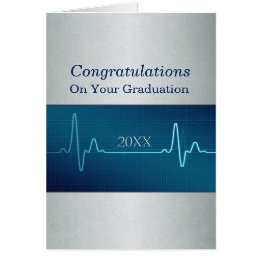 Nurse Medical or Doctor Graduation Custom Dated Greeting Cards