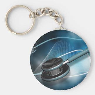 Nurse Medical Stethoscopes Basic Round Button Key Ring