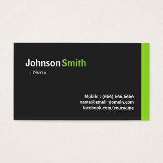 Nurse - Modern Minimalist Green Business Card