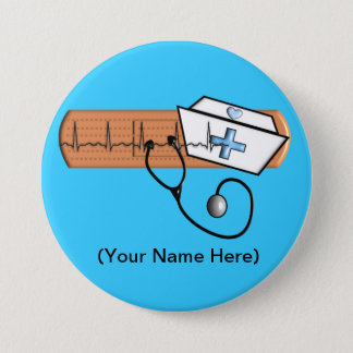 Nurse Name Badge (Add Your Name) BLUE
