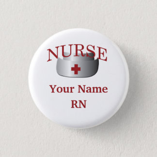 Nurse Name RN Round Button