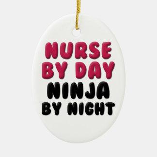 Nurse Ninja Cute Saying Ceramic Ornament