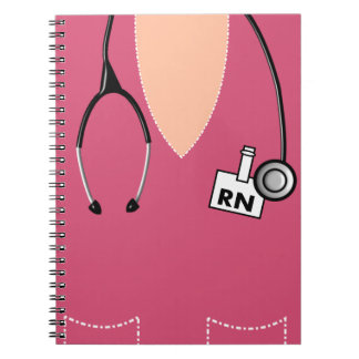 Nurse Notebook Scrub Top Design Pink