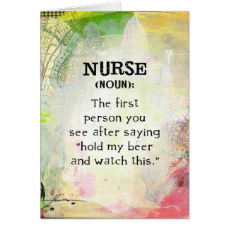 Nurse (noun) card