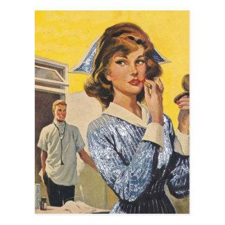 Nurse on the Prowl Postcard