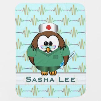 nurse owl baby blanket
