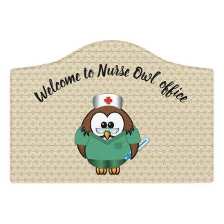 nurse owl door sign