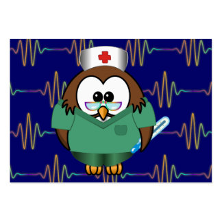 nurse owl pack of chubby business cards