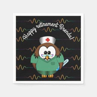 nurse owl - paper napkins