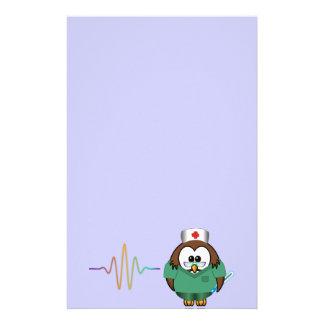 nurse owl personalized stationery