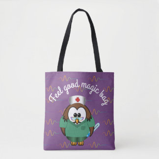 nurse owl - tote bag