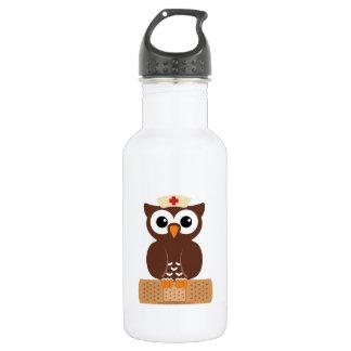 Nurse Owl (w/bandaid) 532 Ml Water Bottle