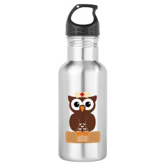 Nurse Owl (w/bandaid) 532 Ml Water Bottle