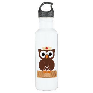 Nurse Owl (w/bandaid) 710 Ml Water Bottle
