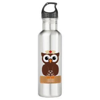 Nurse Owl (w/bandaid) 710 Ml Water Bottle