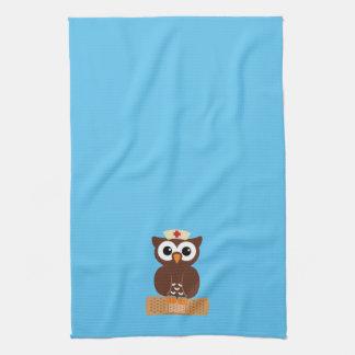 Nurse Owl (w/bandaid) Tea Towel
