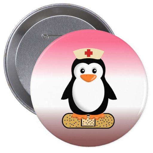 Nurse Penguin (w/bandaid) Pins