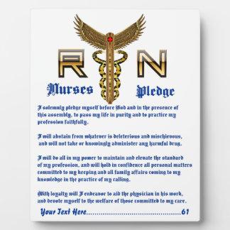 Nurse Photo PlaqueCustomize Edit Change back color Plaque