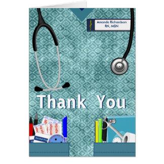 Nurse Pockets Thank You - Blue Card