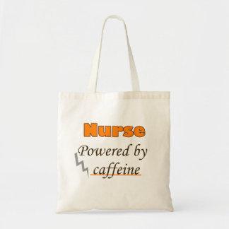 Nurse Powered by caffeine Budget Tote Bag