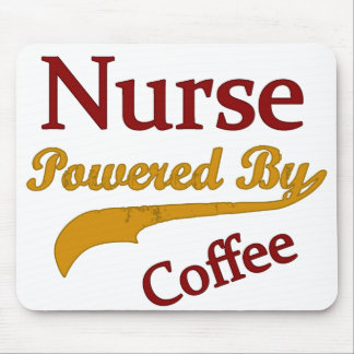 Nurse Powered By Coffee Mouse Pad