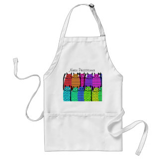 Nurse Practitioner Apron Whimsical Cats