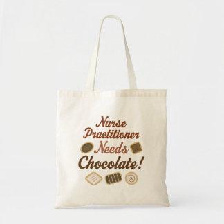 Nurse Practitioner Needs Chocolate Tote Bag