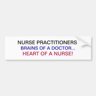 NURSE PRACTITIONERS BUMPER STICKER