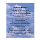 nurse prayer postcard