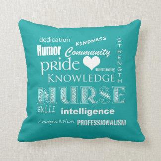 Nurse Pride-Attributes/Blue-Green Cushion