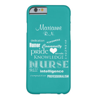 Nurse Pride-Attributes+Name /Aqua Barely There iPhone 6 Case