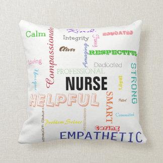 Nurse Pride Attributes Traits Bright Typography Cushion