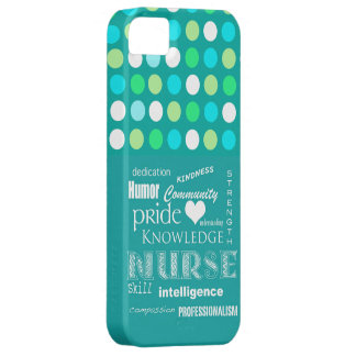 Nurse Pride-Attributes/Turquoise Blue/Polkadots Case For The iPhone 5