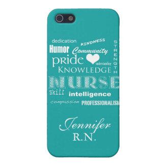 Nurse Pride-Attributes/Turquoise iPhone 5 Cover