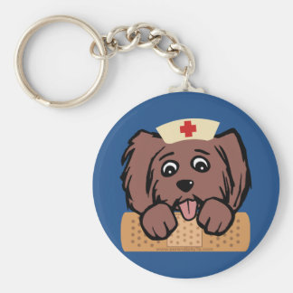 Nurse Pup Key Ring