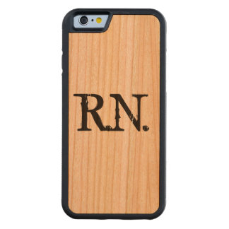 Nurse R.N. wooden phone case