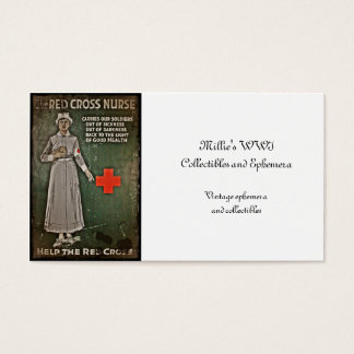 Nurse Requesting Donations WWI Business Card