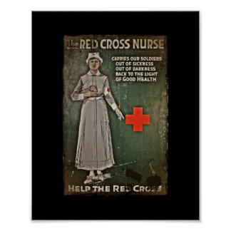 Nurse Requesting Donations WWI Poster