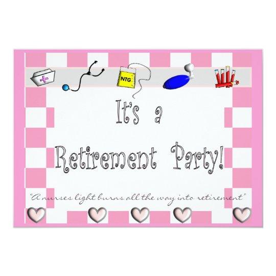 NURSE Retirement Party Invitations