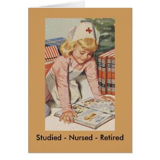Nurse Retiring - So Retro Card