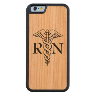 Nurse RN wooden cherry phone case