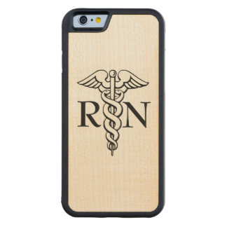 Nurse RN wooden maple phone case
