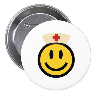 Nurse Smiley 7.5 Cm Round Badge