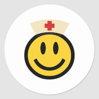 Nurse Smiley Round Sticker