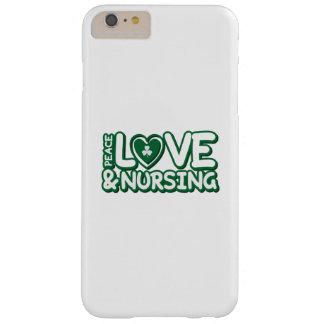Nurse St Patricks Day Peace Love & Nursing Barely There iPhone 6 Plus Case