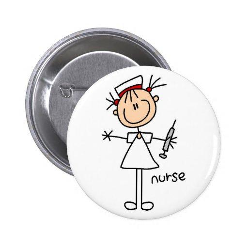 Nurse Stick Figure Button