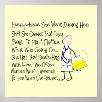 Nurse Story Art Poster Foley Bag --Hilarious