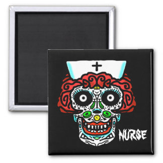 NURSE SUGAR SKULL by Slipperywindow Magnet